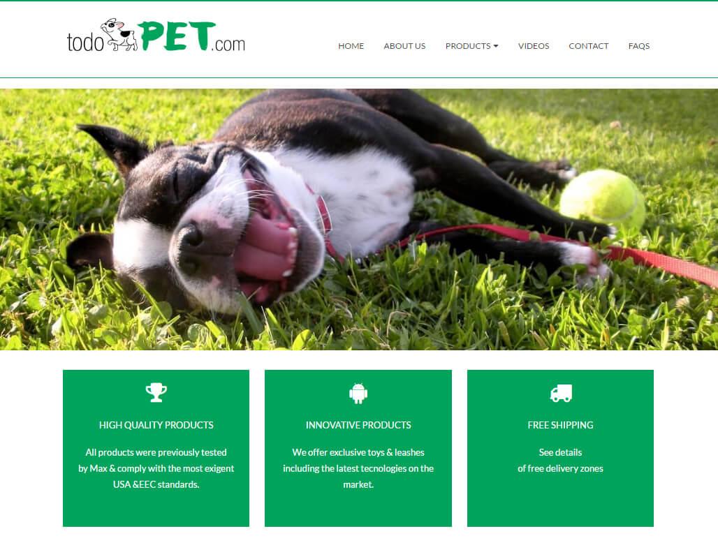 Página web & tienda auto-administrables Todopet