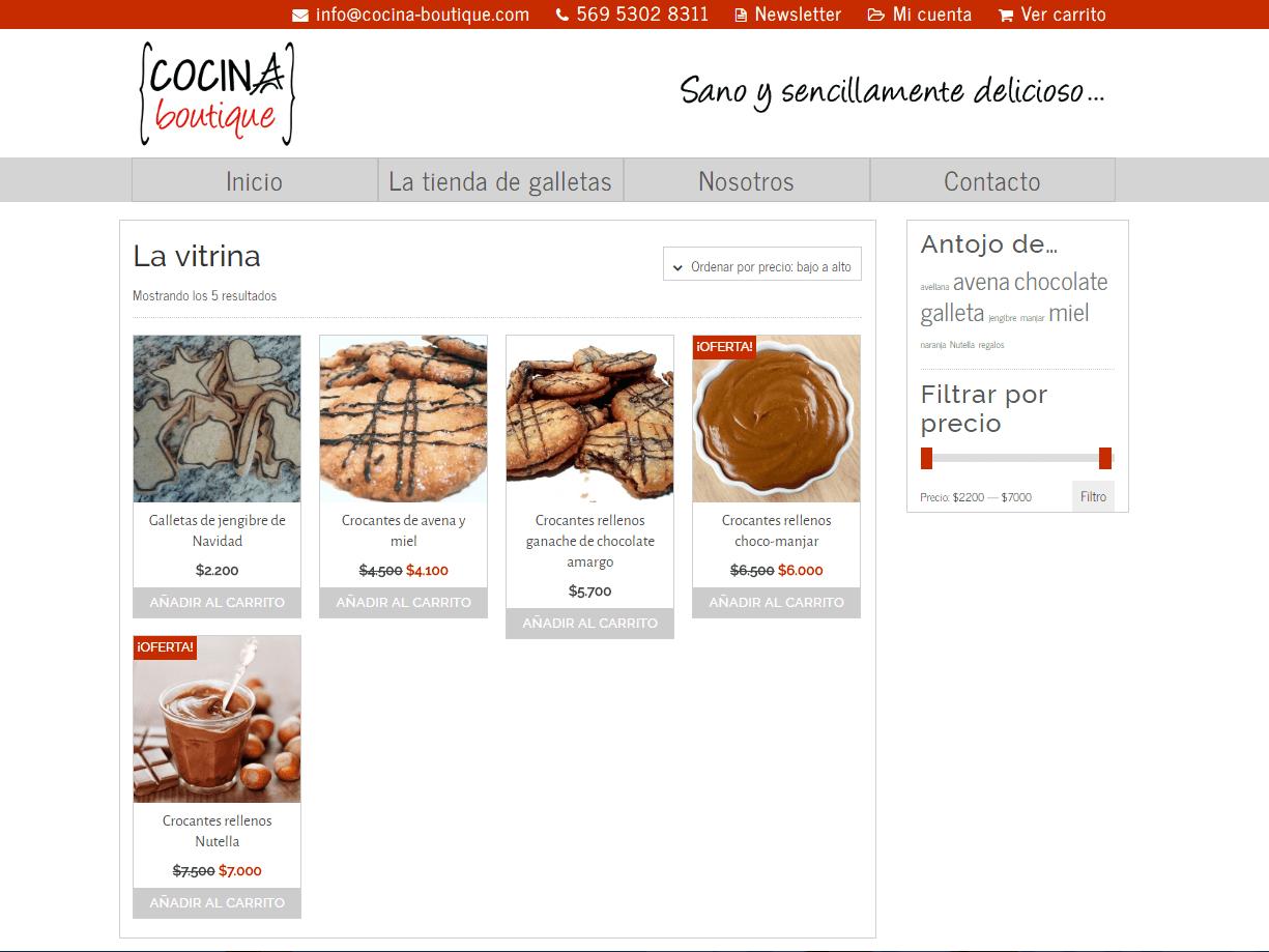 Tienda online Cocina Boutique
